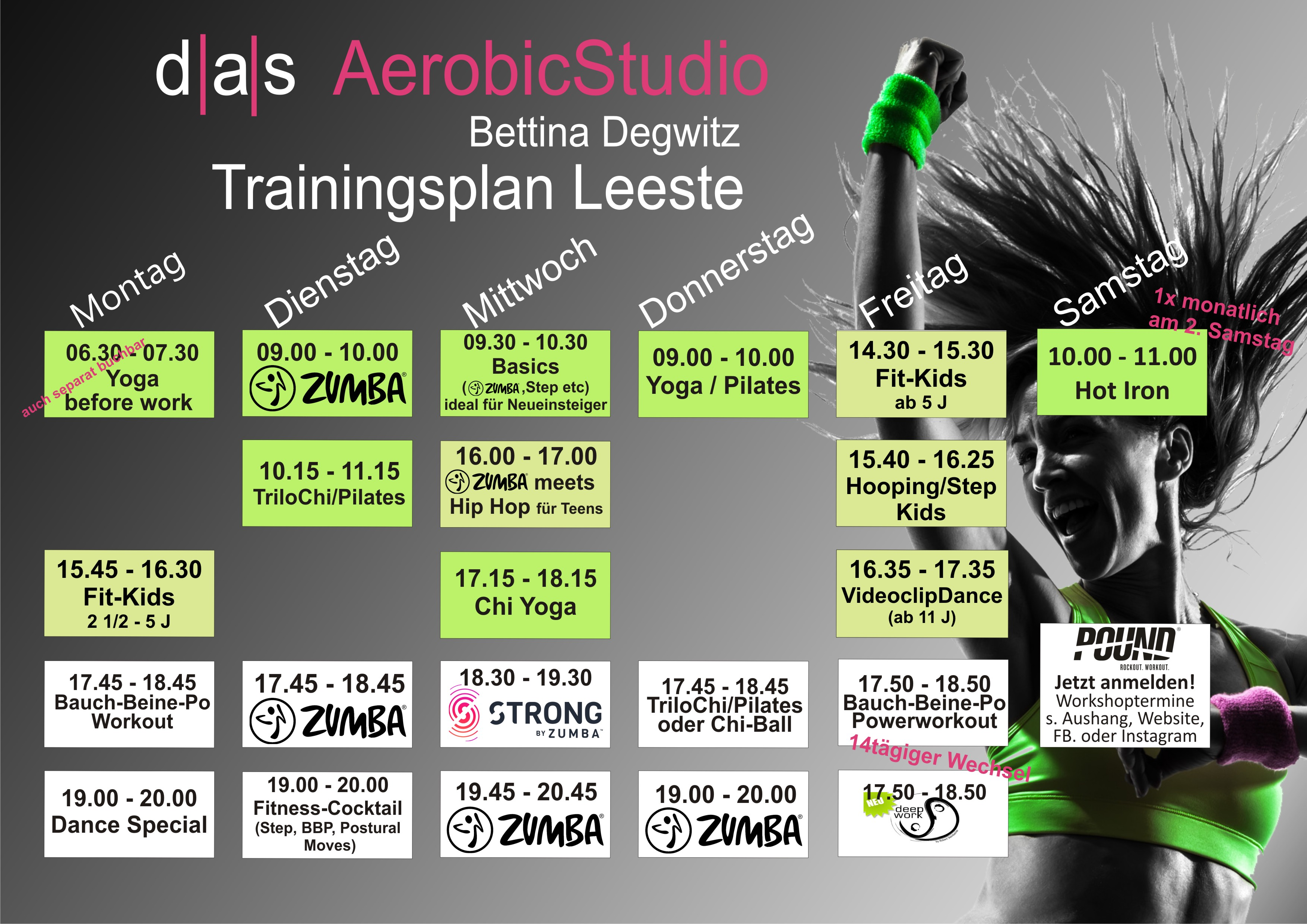 Trainingsplan Leeste Sommer 2018